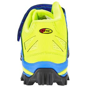 Northwave Enduro Mid Shoes Men blue/yellow fluo
